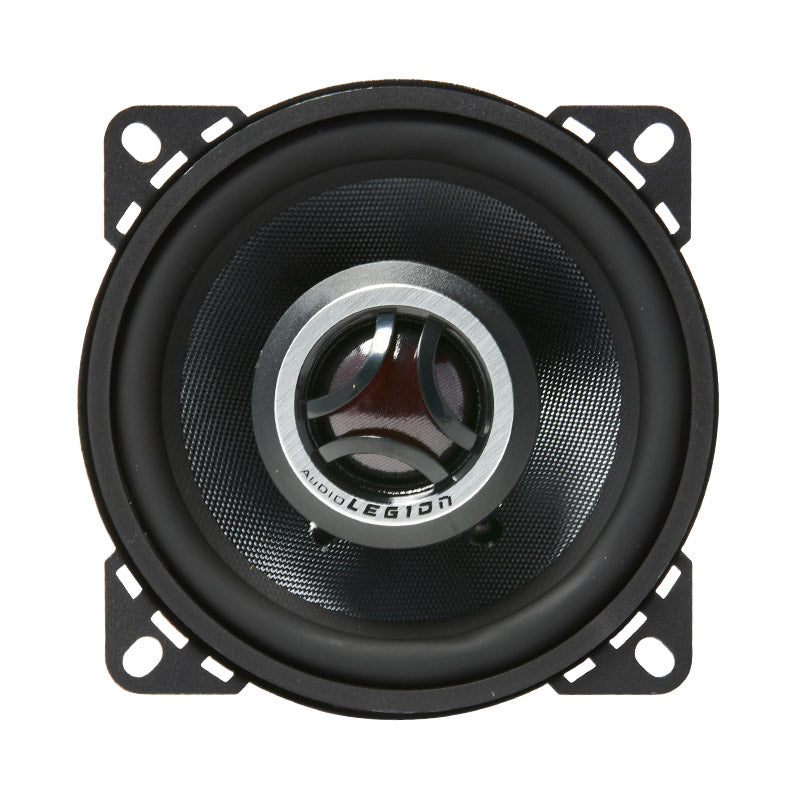 CMG4 - double photo of 140 watt coaxial speaker showing top and profile