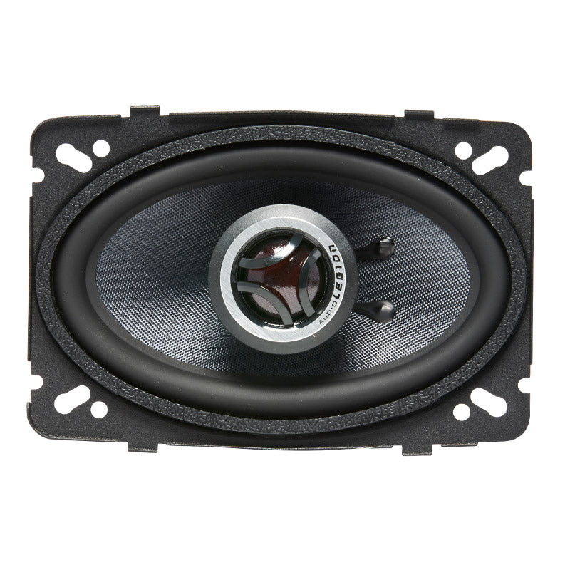 "CMG46 - double photo showing to and profile of 4.6"" 140 watt coaxial speakers"