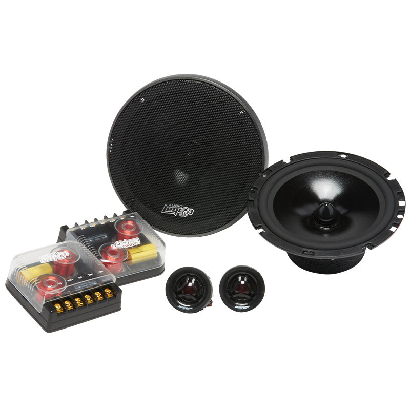 CMPE65 - group with two crossover, 2 component tweeters, and 2 woofers