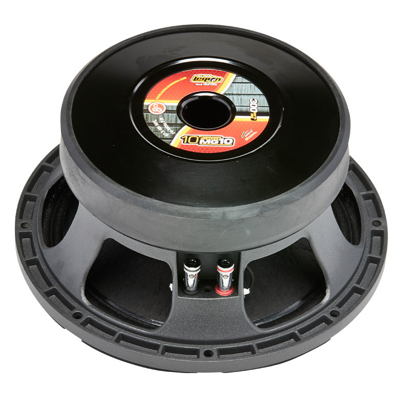 "MG10 - top and profile of 10"" 600 watt golden midrange speaker"