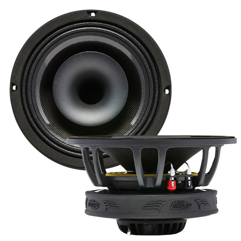 "MR8F - top and profile of MR8F 8"" marine pro driver coaxial speaker"