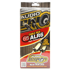ALR6 - 6 ft, 2-channel RCA cable unpackaged