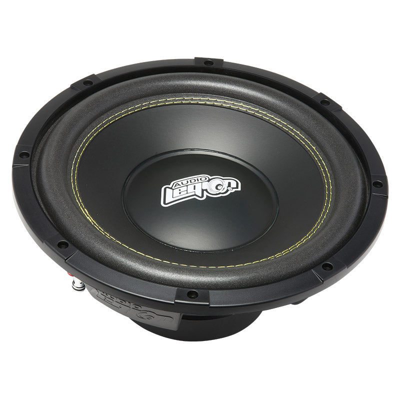 "S1812 - top showing cone and dust cap with Audio Legion logo of 12"" 400 watt subwoofer"