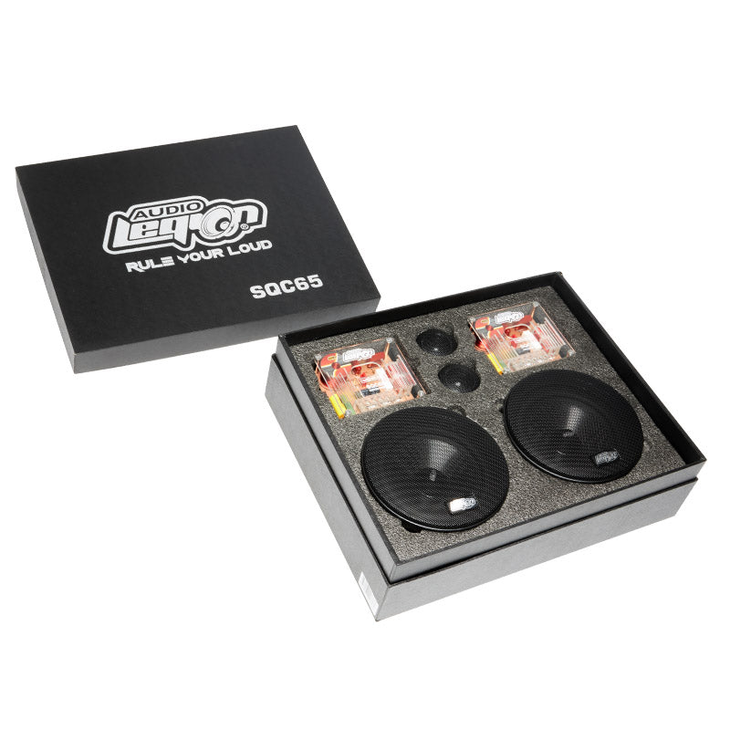 SQC65 -two crossovers, two tweeters, two woofers of 800 watt 2-way millennium component speakers