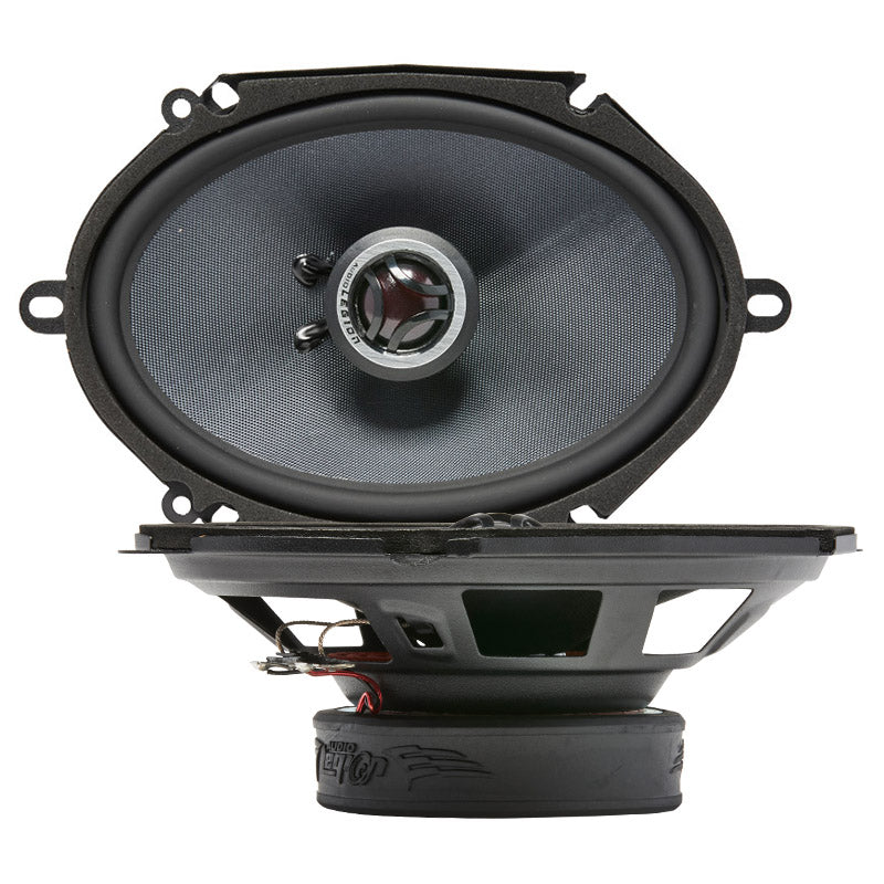 "CMG68 - top and profile of 6x8"" 200 watt golden coaxial speaker"
