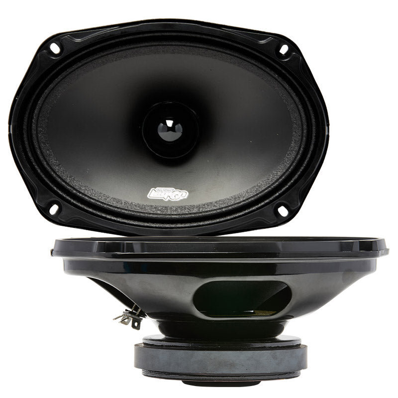 "ME69B - 6x9"" 400 watt midrange speaker profile and top"