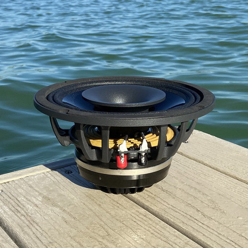 "MR8N | 8"" 600 Watt NEO Marine Pro Driver Coaxial Speakers - Pair"