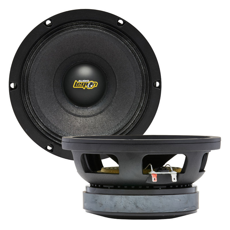 "Mx8 - top and profile of 8"" 600 watt extreme midrange speaker"
