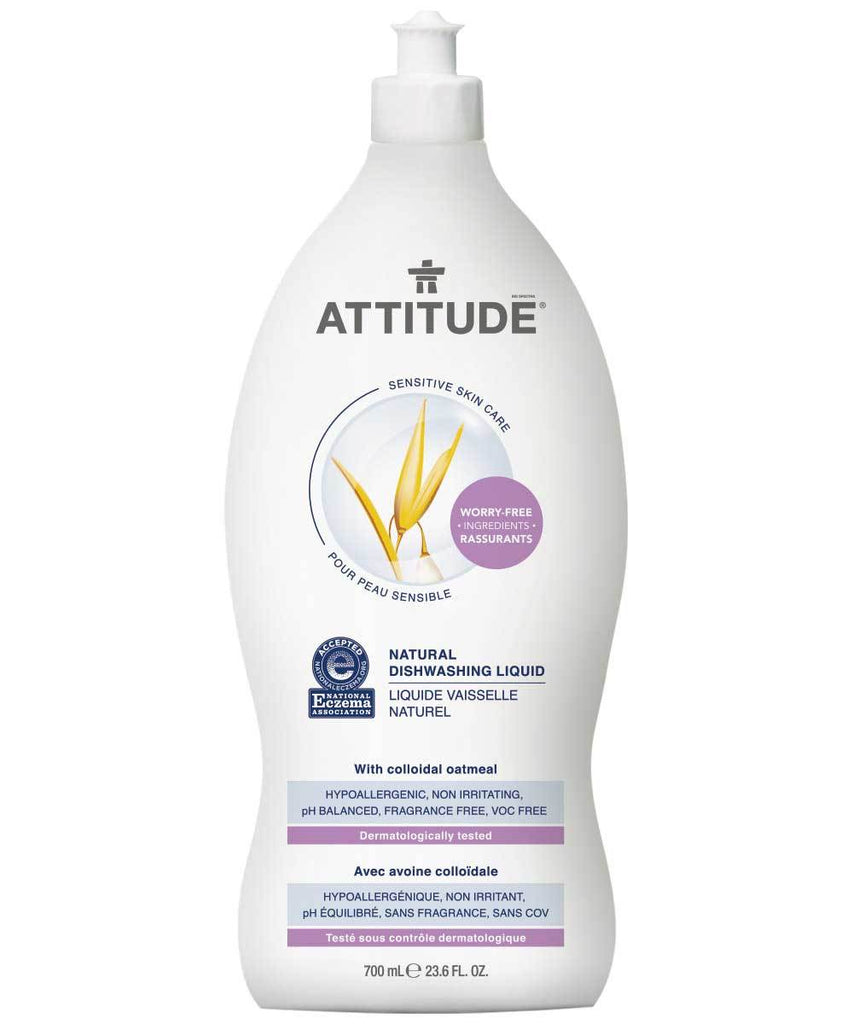 Attitude Natural Dishwashing Liquid Fragrance-free 1L