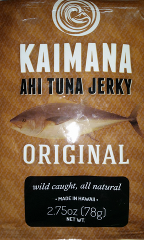 Kaimana Ahi Tuna Jerky Original flavor front of bag