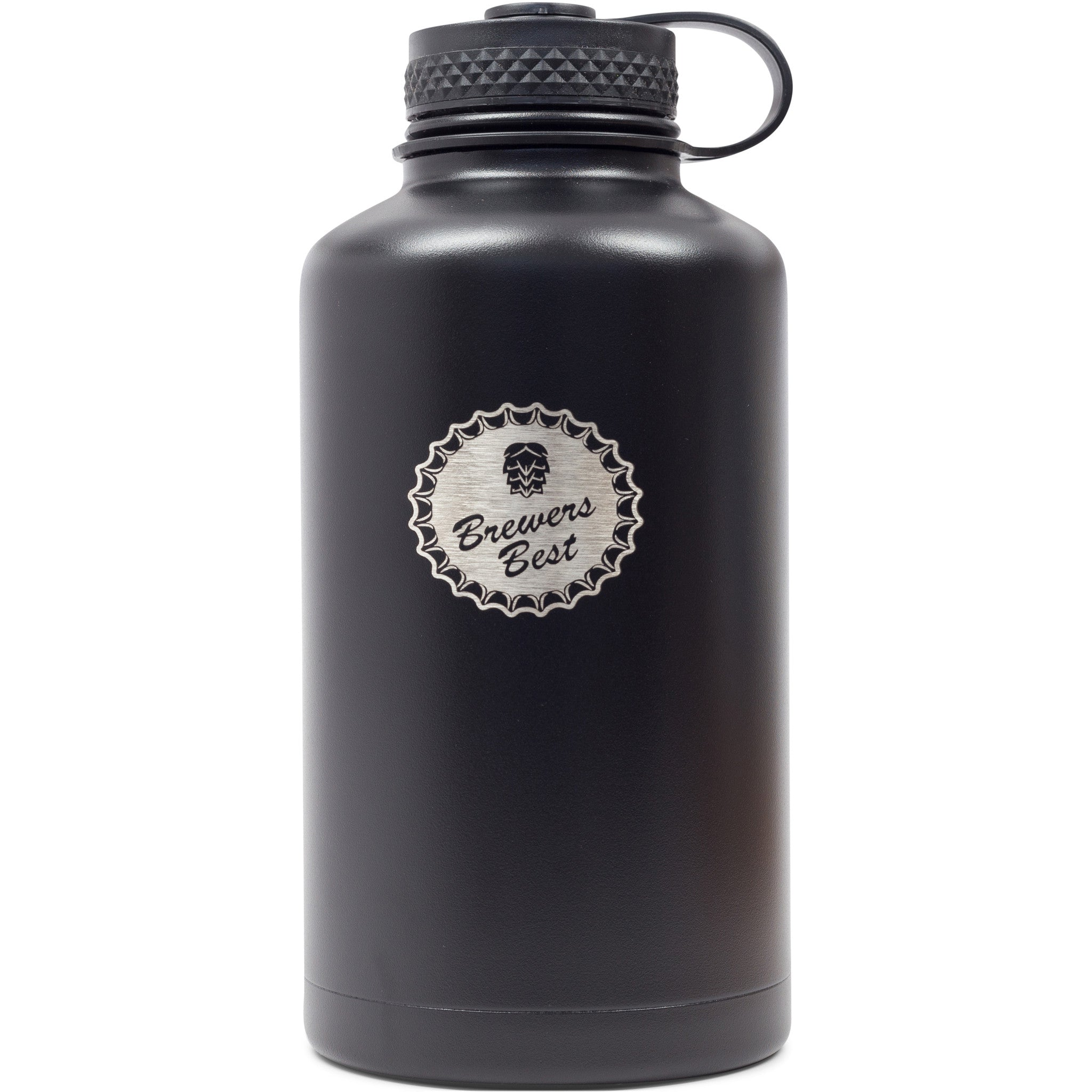 Beer Growler, Double-Wall Vacuum Insulation, Stainless Steel, 64oz