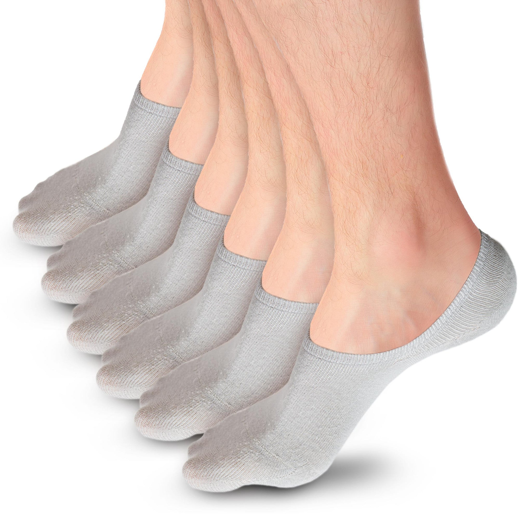 Low Cut, No Show Socks for Men, Bamboo Fiber with HeelHugTM Technology (Pack of 6)