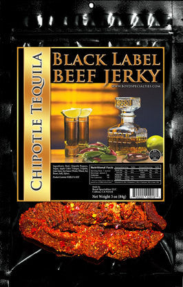 Black Label : Beef Jerky - Chipotle Tequila Three Pack (Three, 3oz Bags)