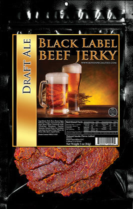 Black Label : Beef Jerky - Draft Ale Three Pack (Three, 3oz Bags)