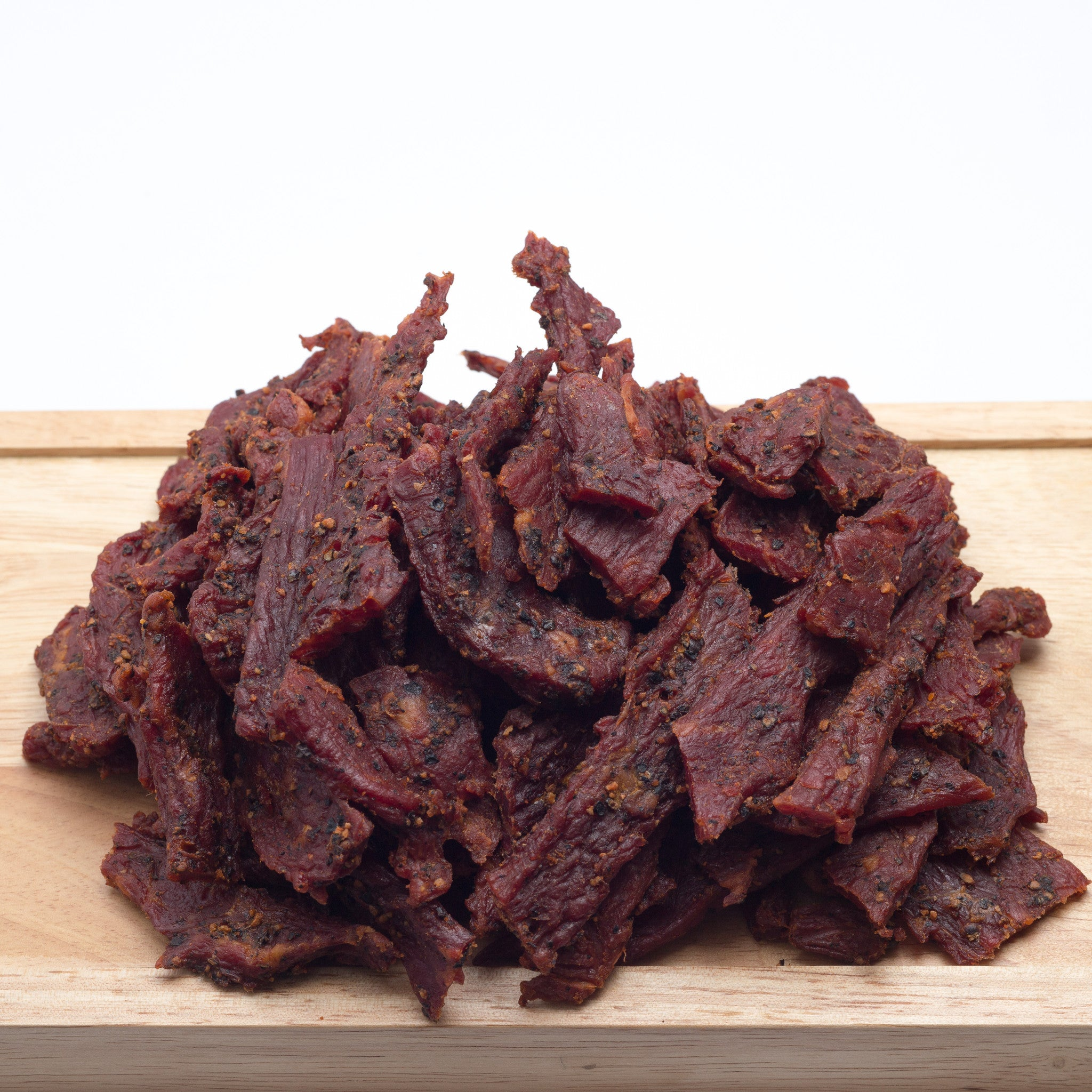 Grandpa Jack's Beef Jerky - Black Pepper Flavor - Tender & Thick Pieces (15oz. Bag)