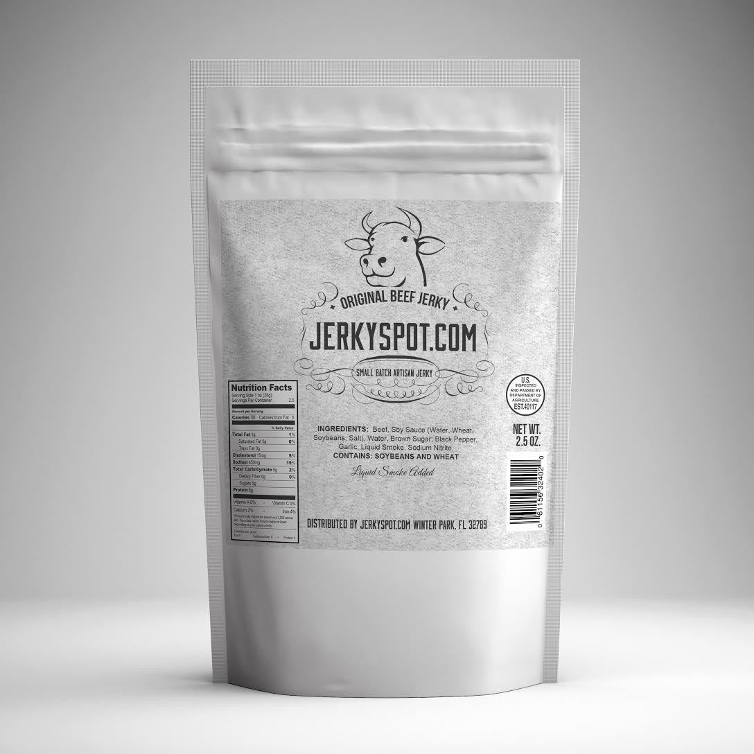 out of bag original beef jerky
