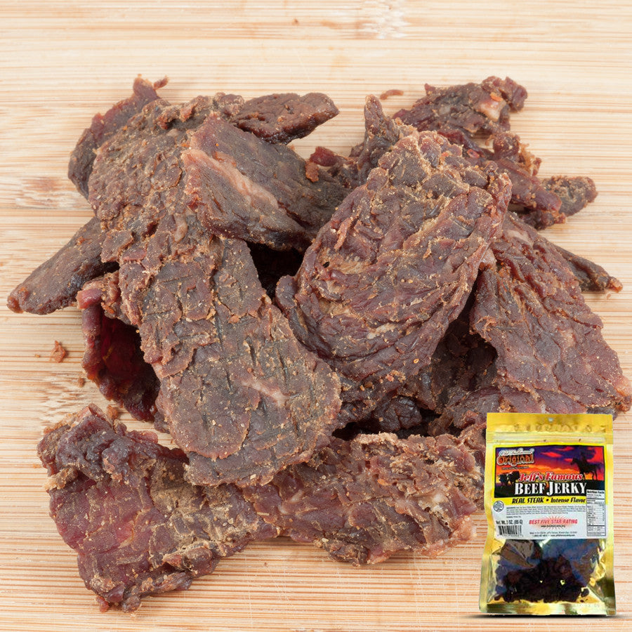 Jeff's Famous : Beef Jerky - Original Old Fashioned 3-Pack (Three - 3oz Bags)