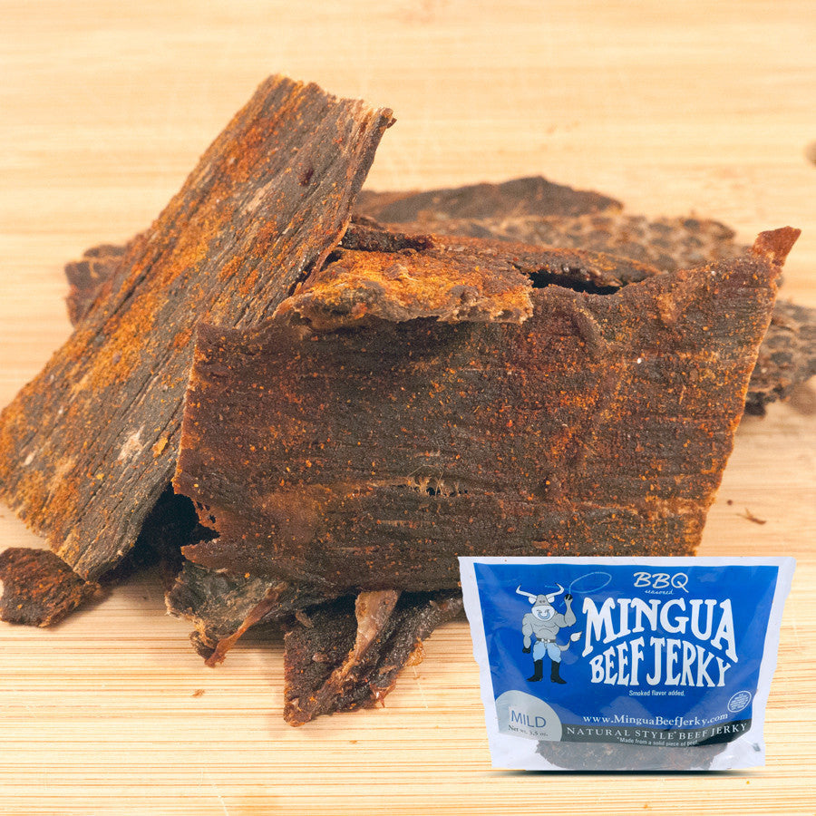 Mingua : Beef Jerky - BBQ - (Four - 3.5oz packs)
