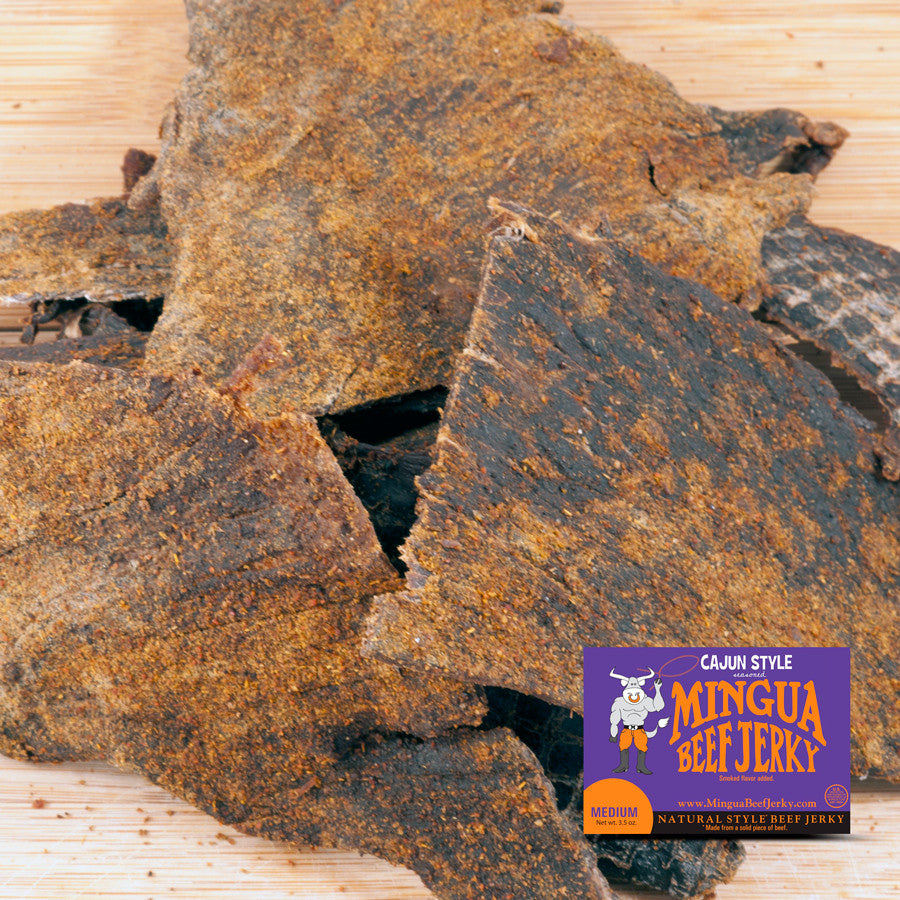 Mingua : Beef Jerky - Cajun - (Four - 3.5oz packs)