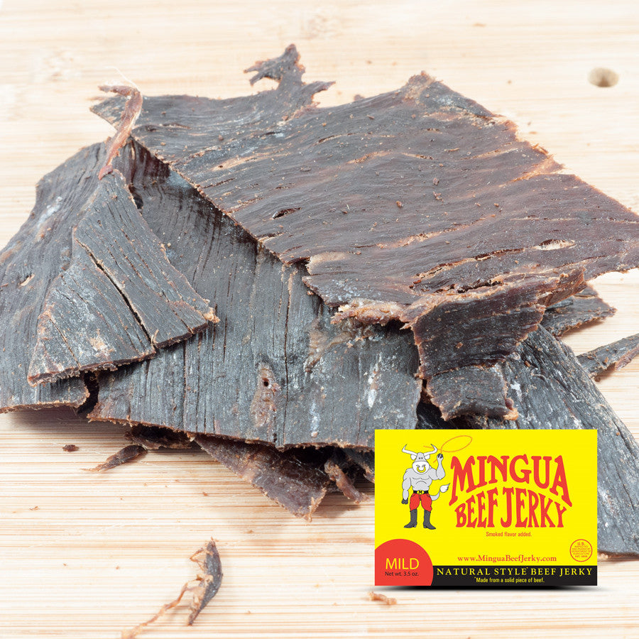 Mingua : Beef Jerky - Mild - (Four - 3.5oz Packs)