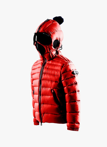 AI Rider On The Storm Boys Down Jacket in Chili Red/Royal Blue - FINAL SALE