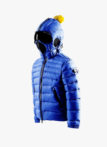 AI Rider On The Storm Boys Down Jacket in Royal Blue/Black - FINAL SALE