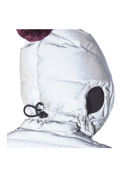 AI Rider On The Storm Girls Down Jacket in Silver - FINAL SALE