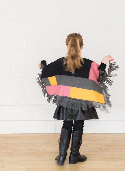 Vierra Rose Annie Colorblock Poncho - FINAL SALE
