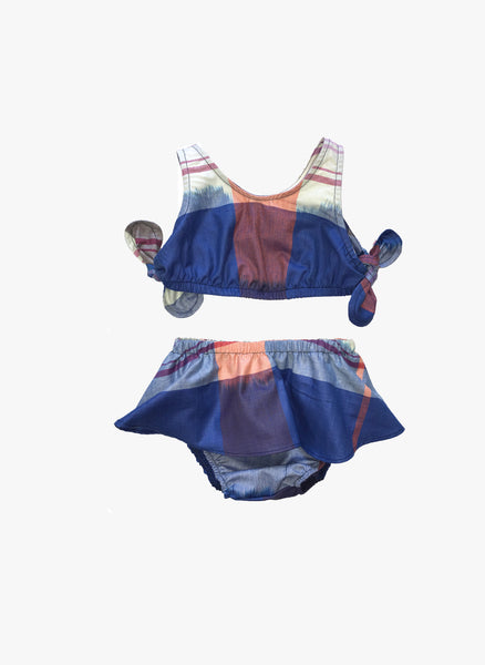 Anthem of the Ants Baby Girl Sunshine Set Bikini in Plaid