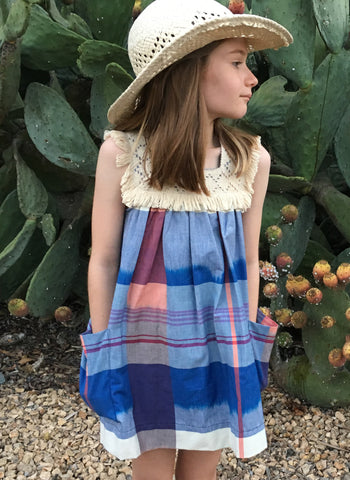 Anthem of the Ants Fringe Dress in Plaid