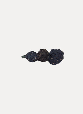 Arsene et Les Pipelettes Girls Flower Headband in Anthracite - FINAL SALE
