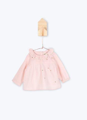 Arsene et Les Pipelettes Baby Girl Dress Joandra in Pink Powder