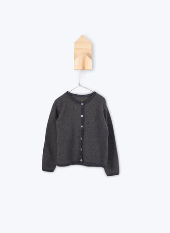 Arsene et Les Pipelettes Girls Cardigan Jill in Anthracite - FINAL SALE