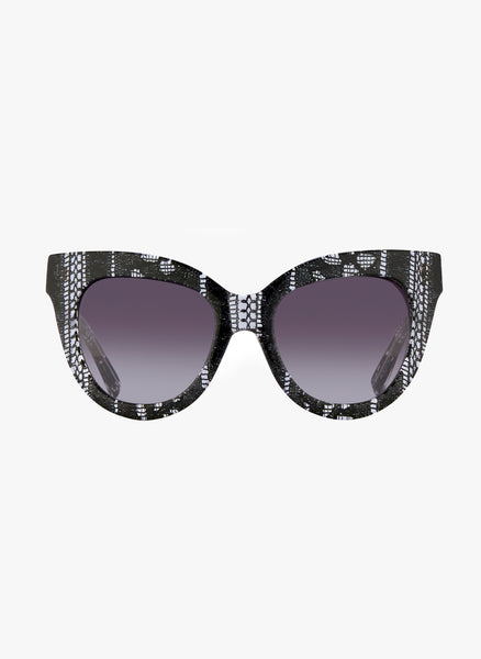 Linda Farrow X Erdem Black Lace Sunglasses - FINAL SALE