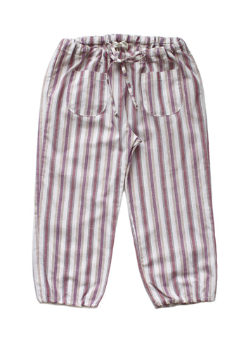 Babe & Tess Girls Linen Blend Pinstripe Capri Pants - RG 2 - FINAL SALE