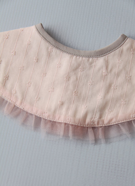 Baby Girls Decorative Bib in Pink