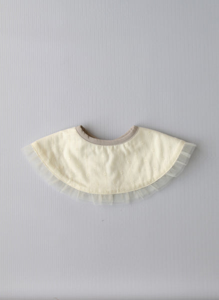 Baby Girls Decorative Bib in Ivory