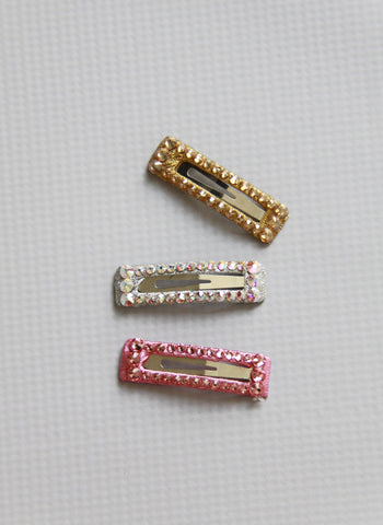 Bari Lynn Rectangle Swarovski Crystal Hair Clip