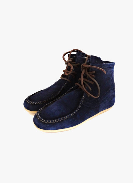 Belle chiara Mohican Boots in Navy Suede - FINAL SALE