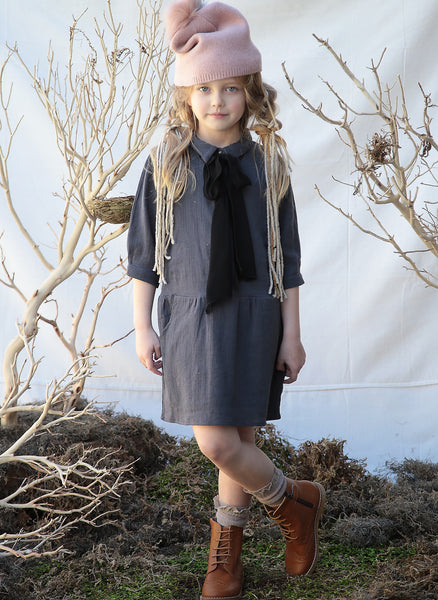 Blue Pony Vintage Billy Jean Dress in Charcoal - FINAL SALE
