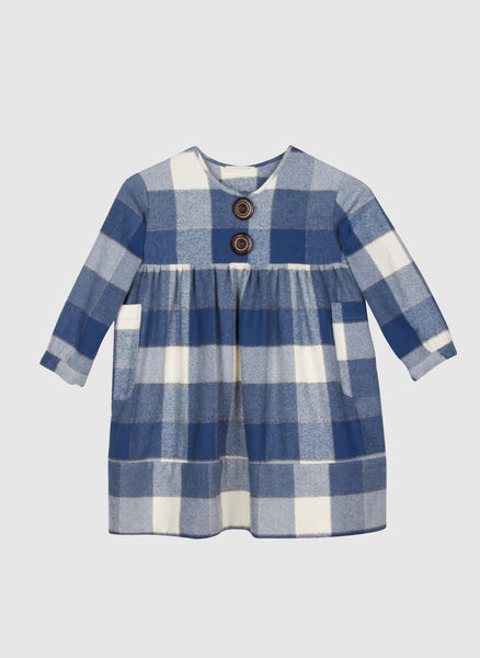 Blue Pony Vintage Hazel Dress in Bigger Blue Check - FINAL SALE