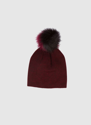 Blue Pony Vintage Pom Hat in Burgundy - FINAL SALE