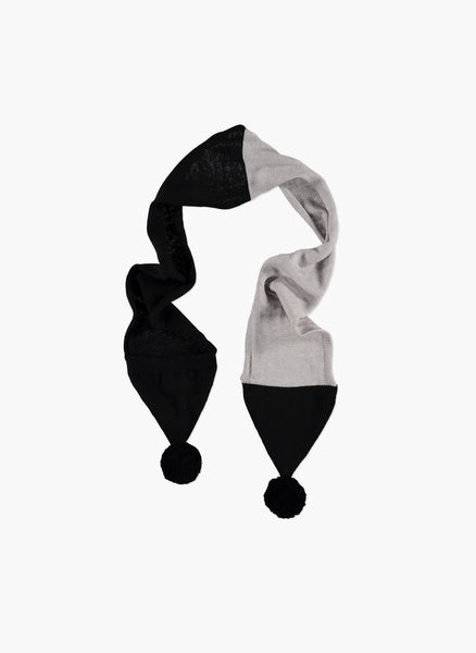 Carbon Soldier Pointy Scarf in Grey and Black - FINAL SALE