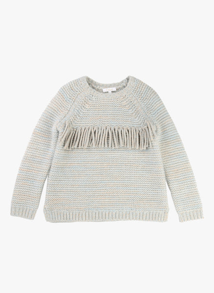 Chloe Girls Chunky Knit Sweater with Fringes - FINAL SALE
