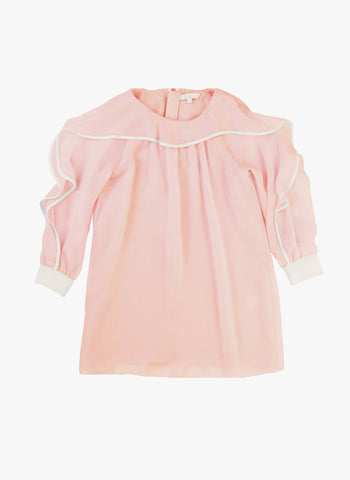Chloe Girls Couture Crepe Dress with Ruffles and Lining - FINAL SALE