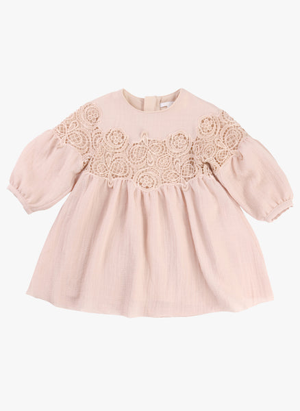 Chloe Baby/Kids Couture Dress with Guipure Embroidery - FINAL SALE