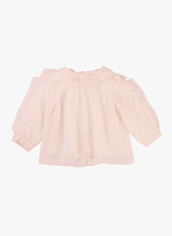 Chloe Baby/Kids Long Sleeve Lined Viscose Blouse with Ruffle Details - FINAL SALE