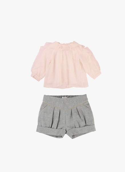 Chloe Baby/Kids Quilted Shorts with Piping Details - FINAL SALE