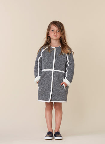 Chloe Girls Soft Coat With Lining Details - FINAL SALE