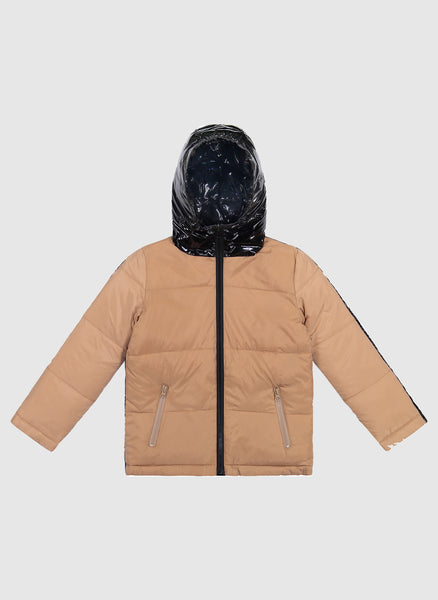 Vierra Rose Caley Reversible Puffer in Camel/Black - FINAL SALE
